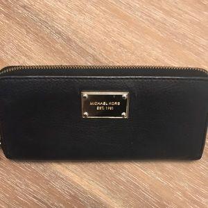 Michael Kors Black Zip Around Wallet